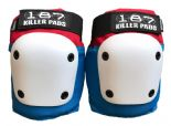 "187 KILLER PADS ""Fly Knee"" Skateboard Roller Derby RED BLUE WHITE  XS-XL Street protection"
